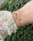 Zag Bijoux Zag Bijoux Armband Goud Rood met Diamantjes