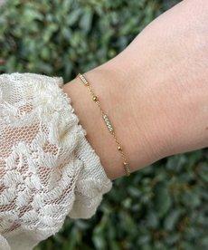 Zag Bijoux Armband Goud Triple Staaf