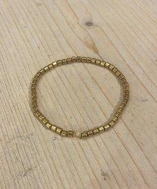 Zag Bijoux Armband Goud Elastisch Bandje