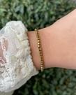 Zag Bijoux Zag Bijoux Armband Goud Elastisch Bandje