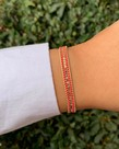 Meet Coco Meet Coco Alix Fuchsia Gold Armband