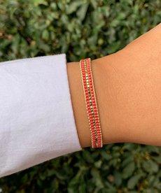 Meet Coco Alix Fuchsia Gold Armband
