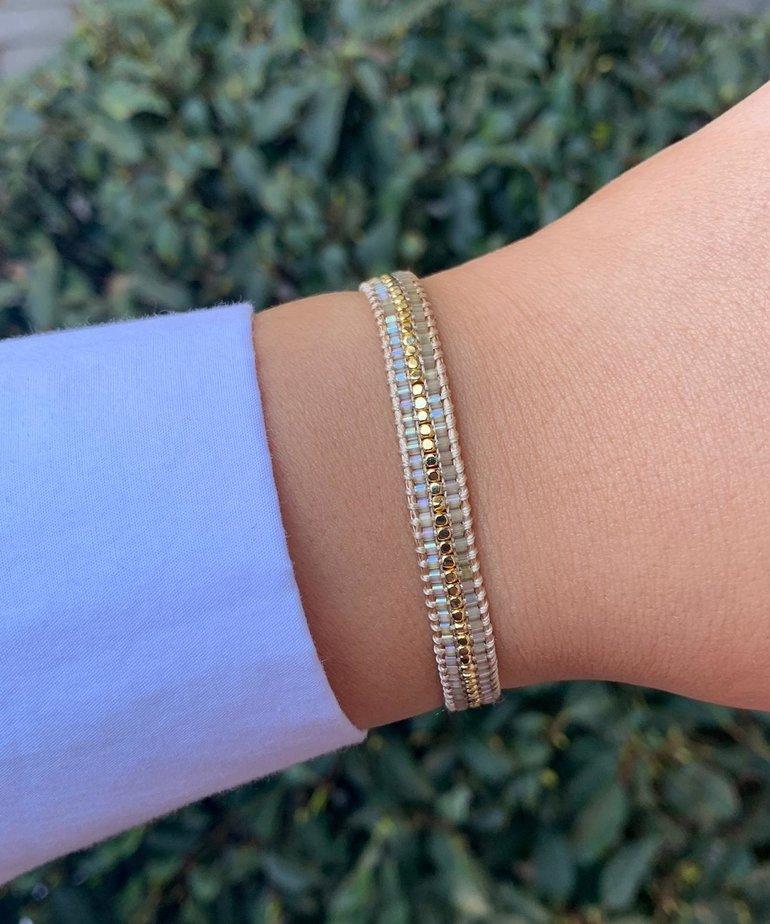 Meet Coco Meet Coco Alix Silk Gold Armband