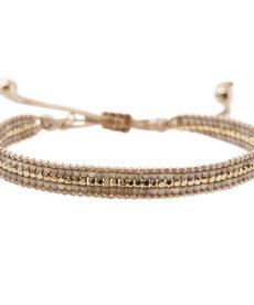 Meet Coco Alix Silk Gold Armband