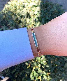 Meet Coco Bo Light Blue Gold Armband