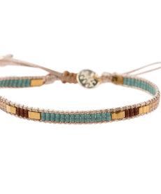 Meet Coco Bo Light Blue Gold Armband