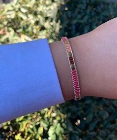 Meet Coco Bo Fuchsia Gold Armband