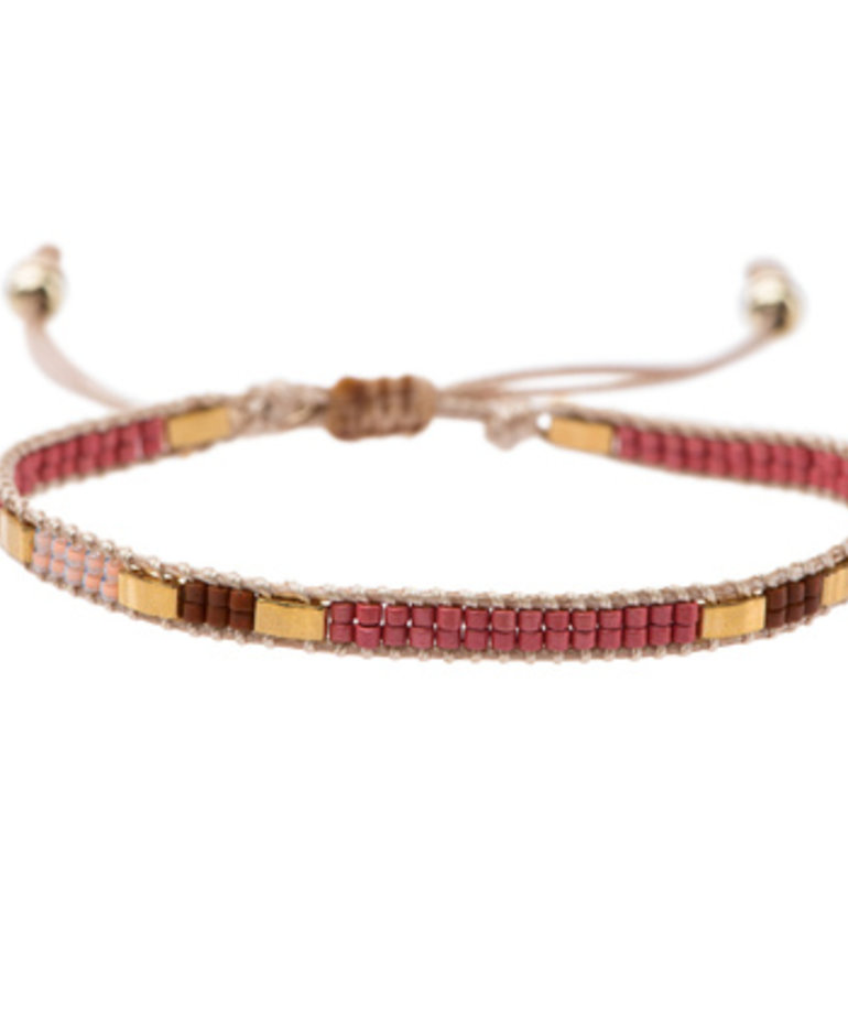 Meet Coco Meet Coco Bo Fuchsia Gold Armband