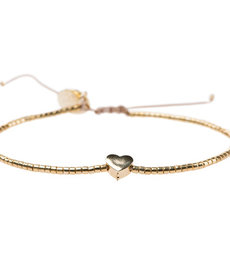 Meet Coco Heart Gold Armband