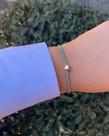 Meet Coco Meet Coco Heart Light Blue Gold Armband