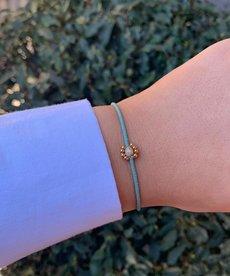 Meet Coco Joan Light Blue Gold Armband