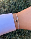 Meet Coco Meet Coco Liev White Gold Heart Armband