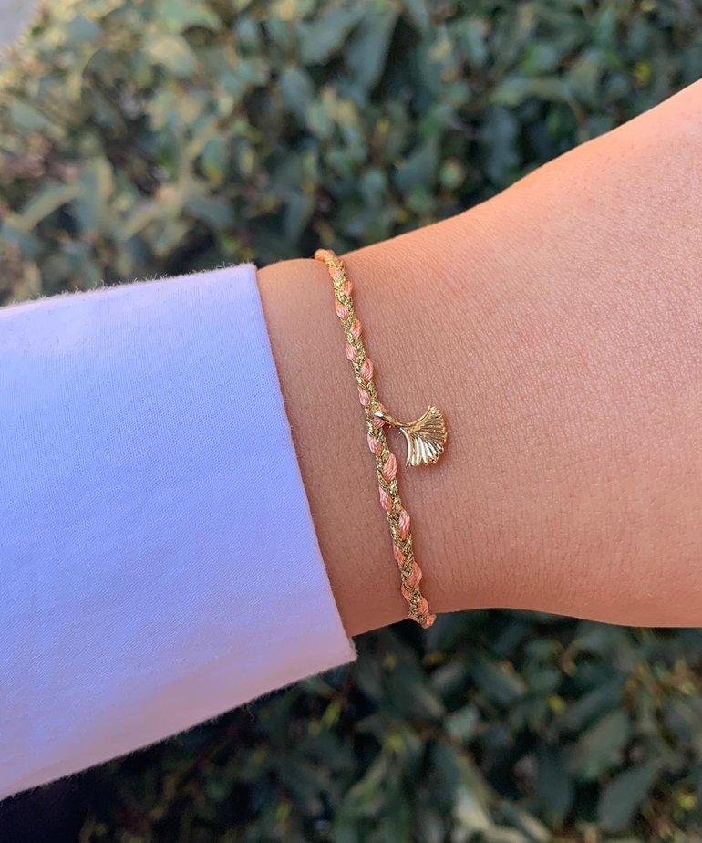 Meet Coco Meet Coco Liev Pink Gold Schelpje Armband