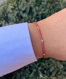Meet Coco Lizzy Fuchsia Gold Armband