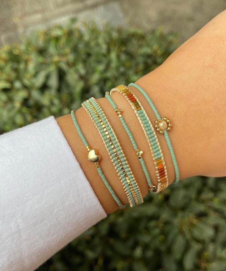 Meet Coco Meet Coco Lizzy Mint Green Armband