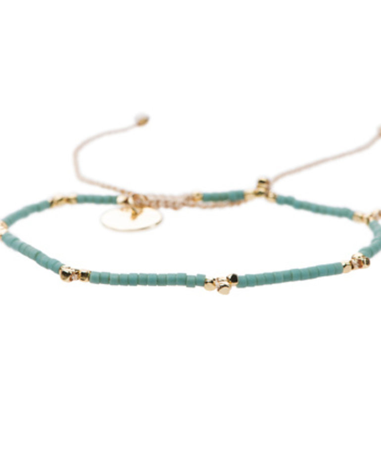 Meet Coco Meet Coco Lizzy Light Blue Gold Armband