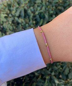 Meet Coco Lizzy Lila Gold Armband