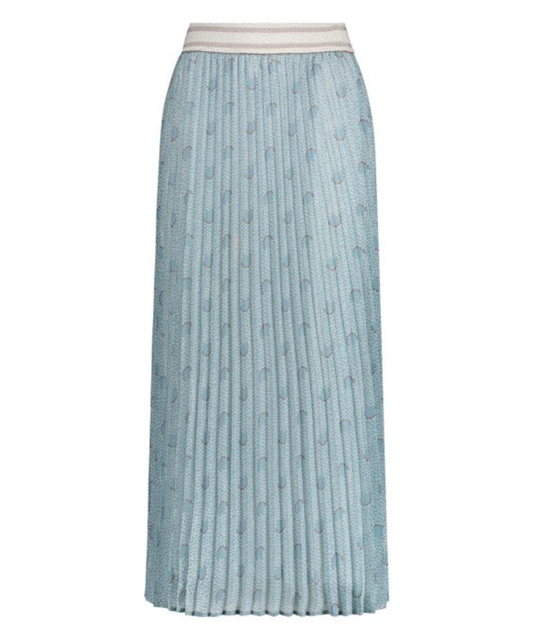 Nukus Nukus Britt Skirt Print - Baby Blue