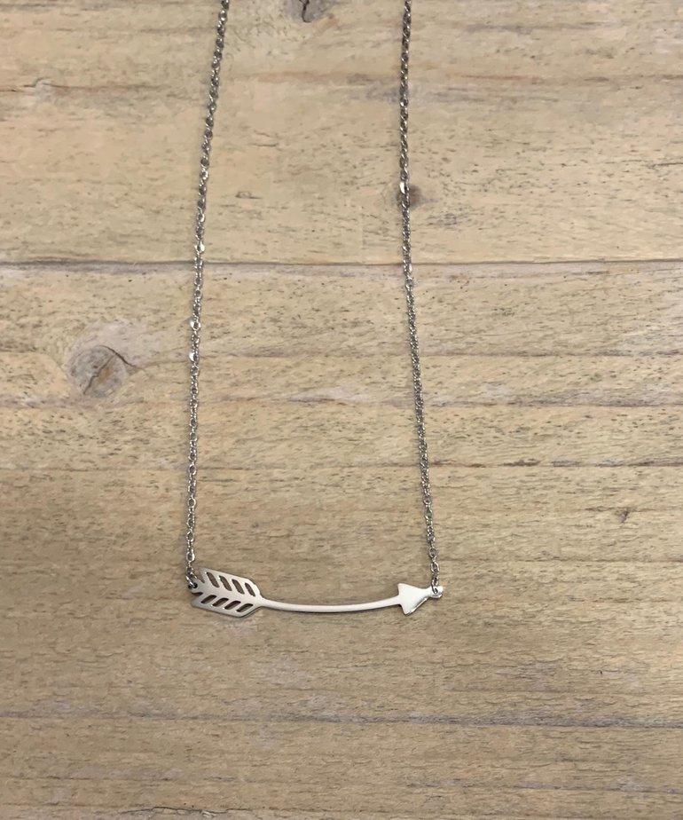 Zag Bijoux Zag Bijoux Ketting - Zilveren Pijl