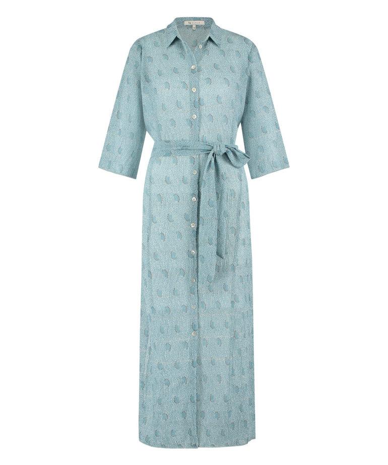 Nukus Nukus Claudy Print Dress - Baby Blue