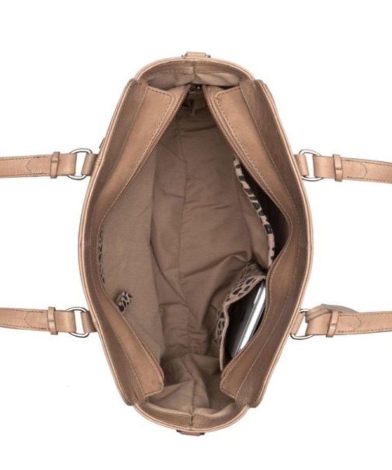 Burkely Burkely Croco Handbag S - Taupe