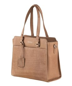 Burkely Croco Handbag - Taupe