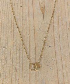Zag Bijoux Ketting Goud Ring met Munt