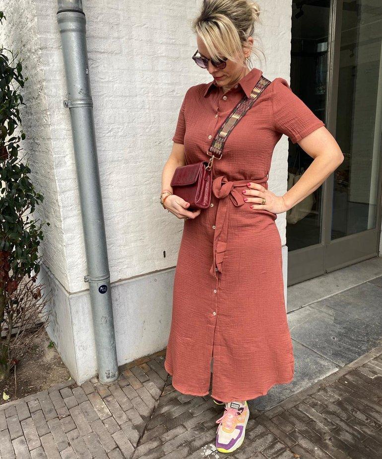 Nukus Nukus, Knokke Dress - Brick