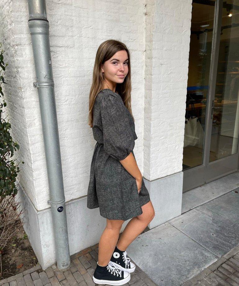 MbyM MbyM, Dress Reya - Lora Print Black