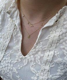 Zag Bijoux Ketting Goud Libelle