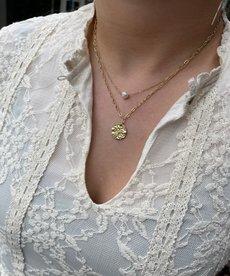 Zag Bijoux Ketting Goud Dubbel Pearl