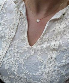 Zag Bijoux Ketting Goud Pearl Hart