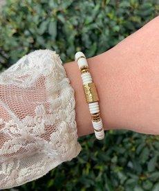 Zag Bijoux Armband Wit Dunne Kralen
