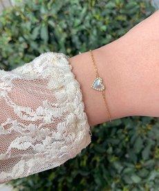 Zag Bijoux Armband Goud Pearl Hart