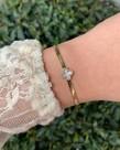 Zag Bijoux Zag Bijoux, Armband Goud Pearl Bloem