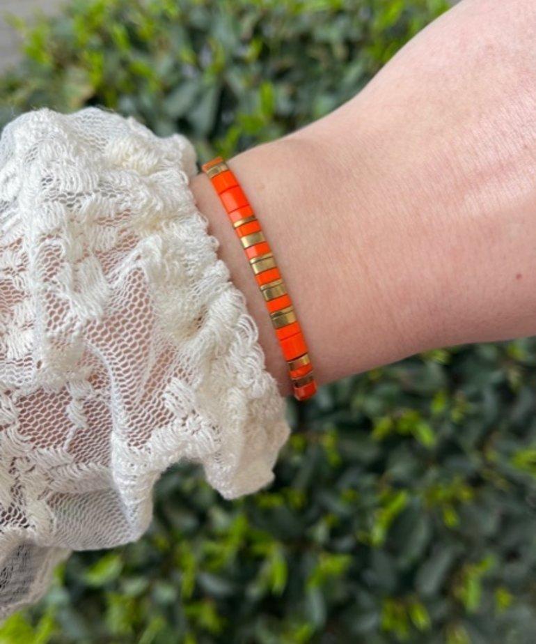 Zag Bijoux Zag Bijoux, Armband Goud Oranje