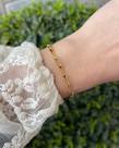 Zag Bijoux Zag Bijoux, Armband Goud Schakel Middel