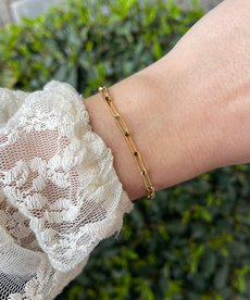 Zag Bijoux Armband Goud Schakel Middel