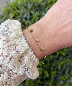 Zag Bijoux Armband Goud Rondjes
