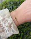 Zag Bijoux Zag Bijoux, Armband Goud Kruis