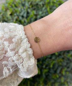 Zag Bijoux Armband Goud Roosje