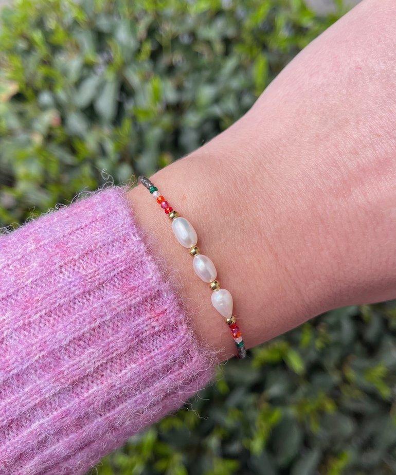 ByJam ByJam Armband Goud Pearl Color
