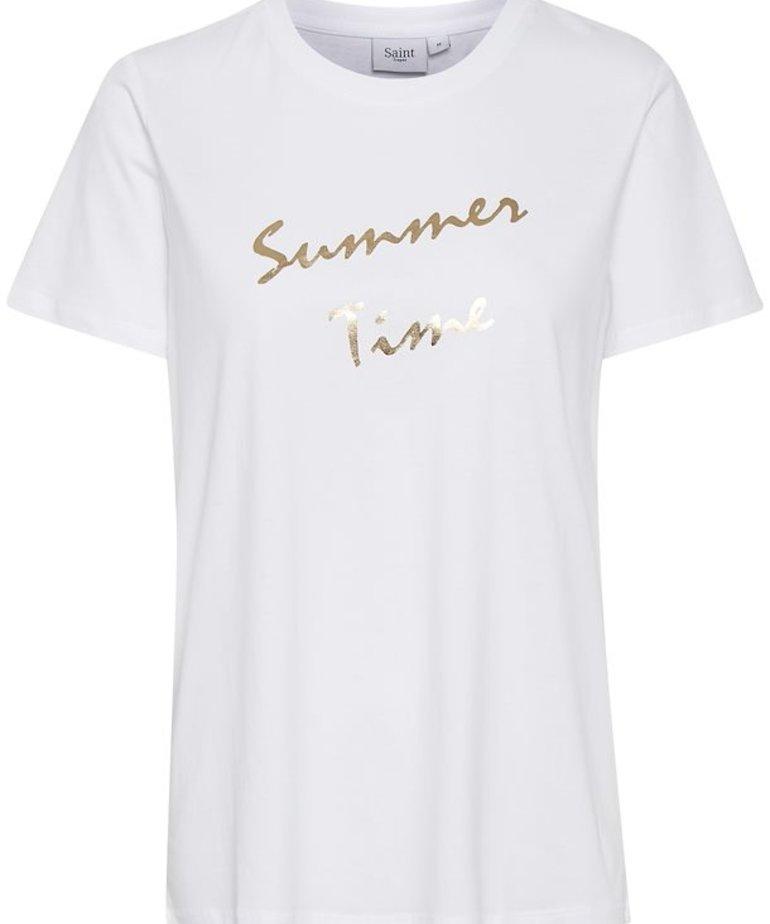 Saint Tropez Saint Tropez GinieSZ T-Shirt - Bright White