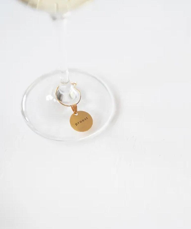 Zusss Zusss Wijnglas Hangers - Proost op jou!
