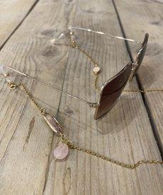 Ikki Zonnebril koord Sedna, Gold - Pink Amulet