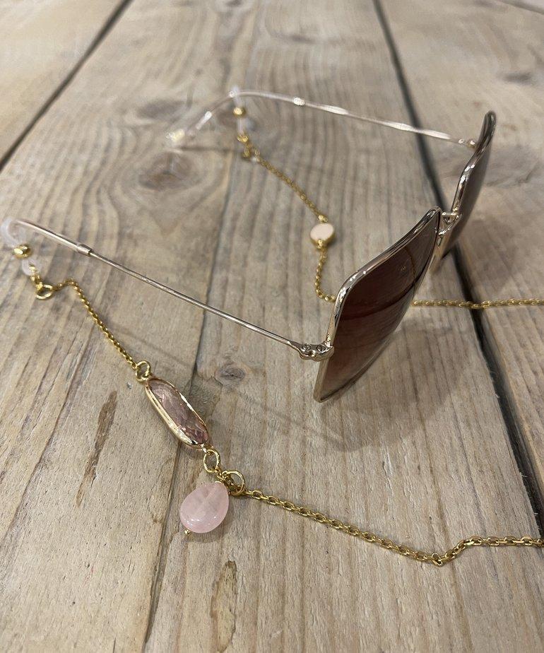 Ikki Ikki Zonnebril koord Sedna, Gold - Pink Amulet