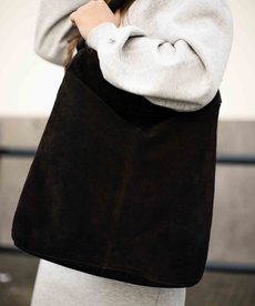 District Bags Suede Shopper - Black