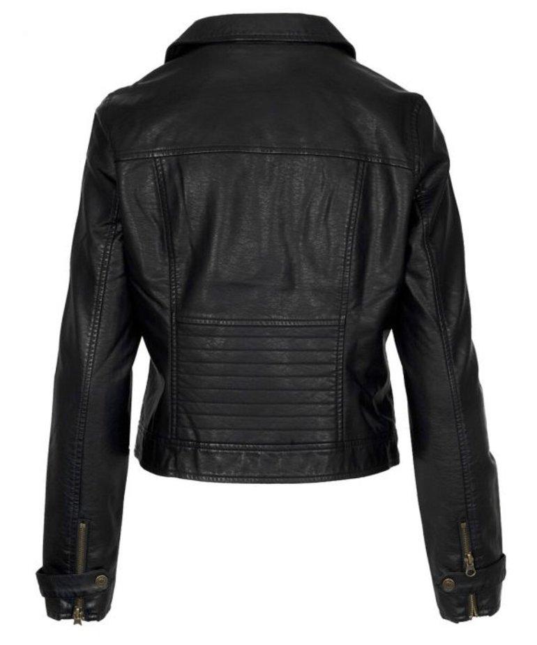 Zusss Zusss Stoer Bikerjacket - Zwart