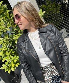 Zusss Stoer Bikerjacket - Zwart