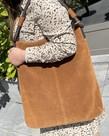 District Bags District Suede Shopper - Cognac